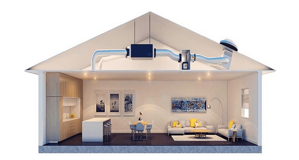 Concealed ducted split system