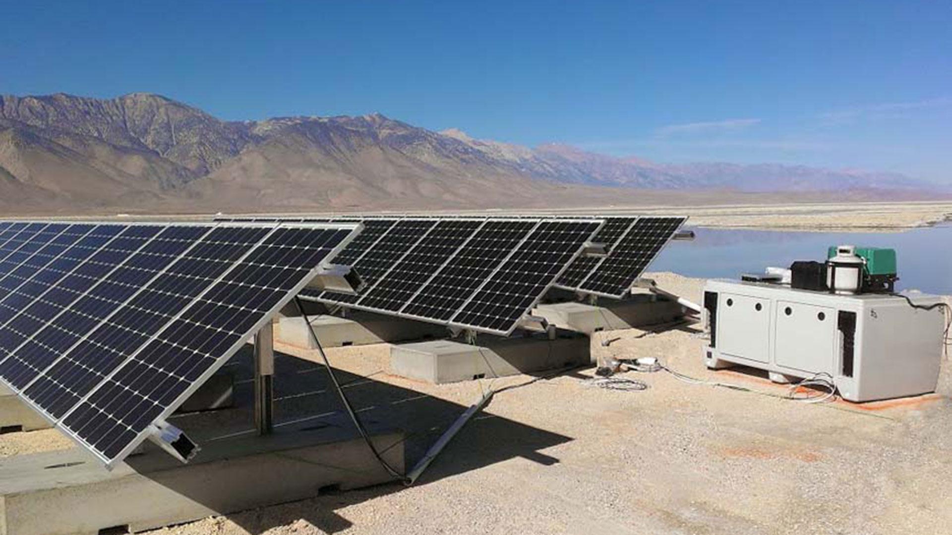 off grid solar array Off-grid solar system